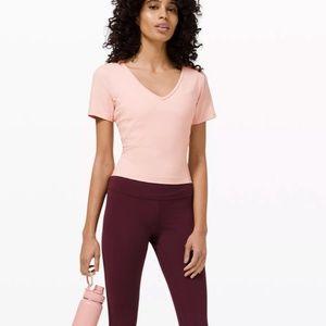 Nulu Cropped Slim Yoga Short Sleeve Lululemon
